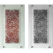 Glaskunst – Rot Schwarz – Peter Kuster -Glascollage-Glasmalerei-Glaskunst -Glasdesign