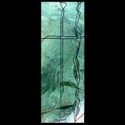 Bleiverglasung Türe Danzigerglas -Glasdesign-Glaskunst-Glasmalerei