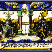 Restauration Wappen Bärlocher.Wappenscheibe Bleiverglasung -Familienwappen
