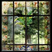 Restauration eines Jugenstilfensters Bleiverglasung -Glasmalerei