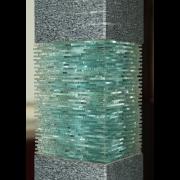 Karat Skulptur Glas und Granit Glas-Design --Glaskunst