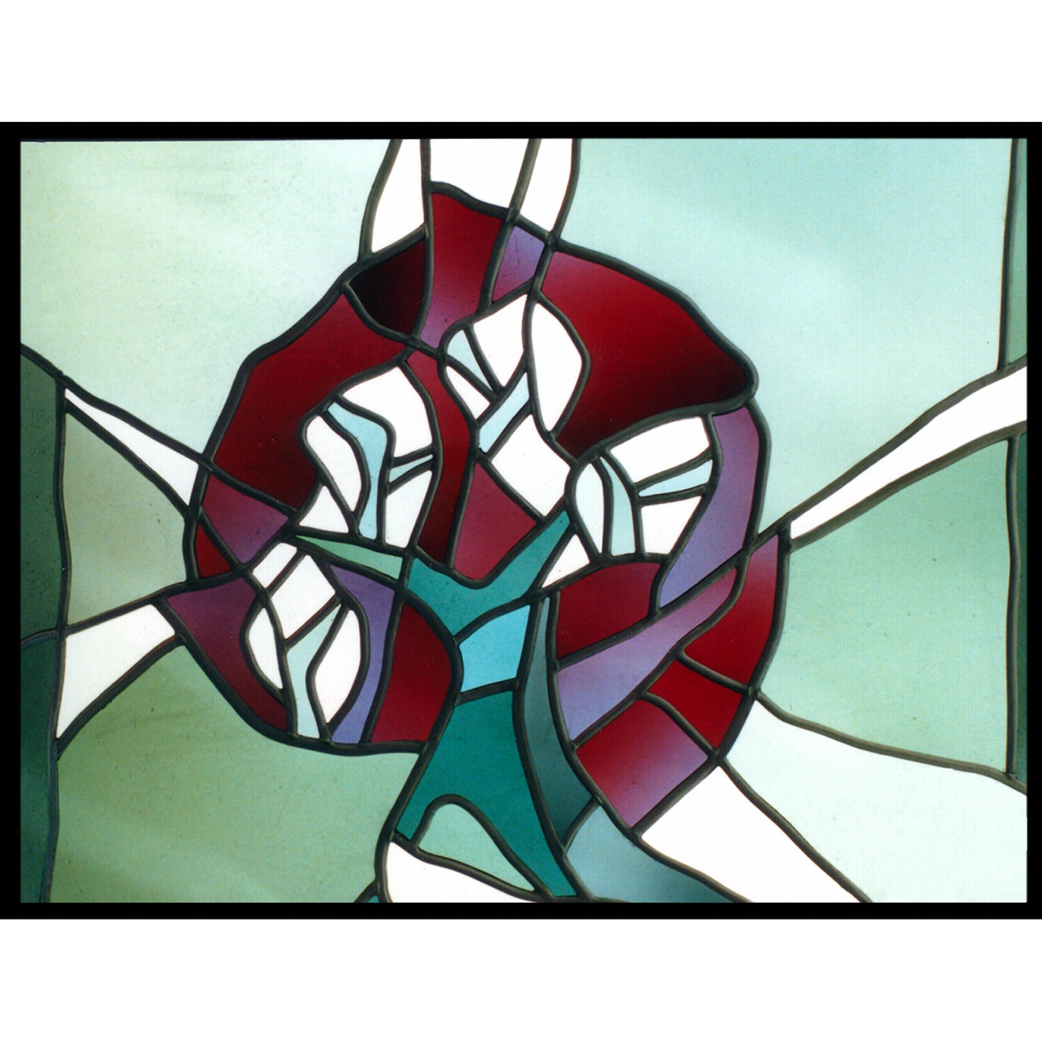 Neubeginn Glaskomposition Baumthema Glas-Design -Glasmalerei-Bleiverglasung
