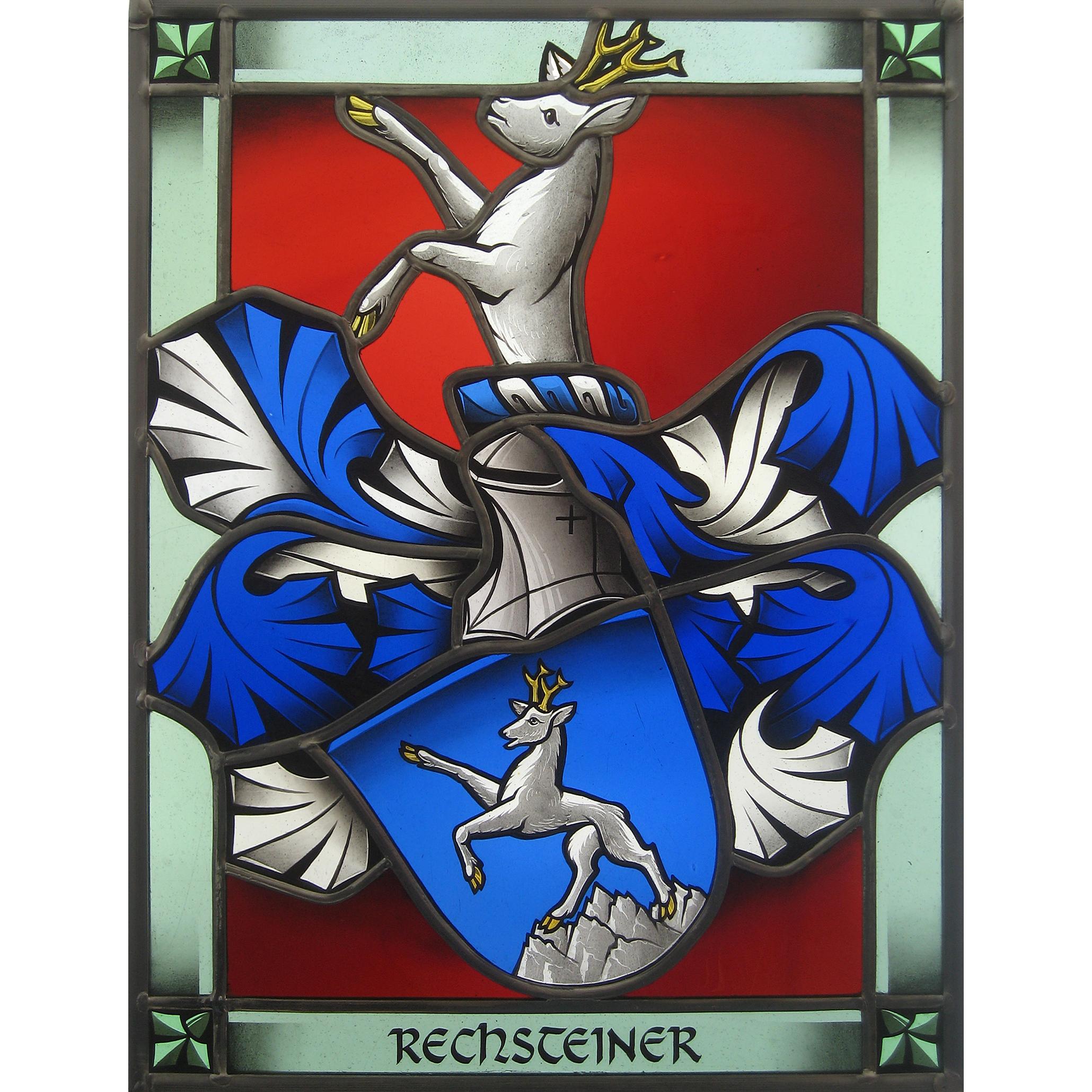 Glasmalerei-Bleiverglasung-Wappenscheibe-Heraldik