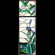 Restauration Jugendstilfenster Neuverbleiung-Glasmalerei-Bleiveglasung
