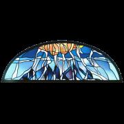 Stiftfenster nach eigenem Entwurf für ref. Kirche Henggart -Glasmalerei-Glaskunst-Glasdesign-Bleiverglasung