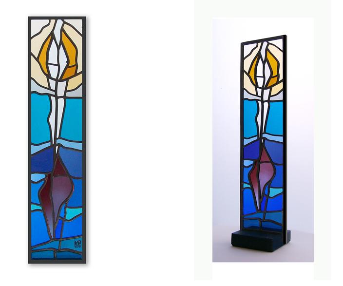Glasstele - Zum Licht- Atelier für Glasmalerei - Peter Kuster