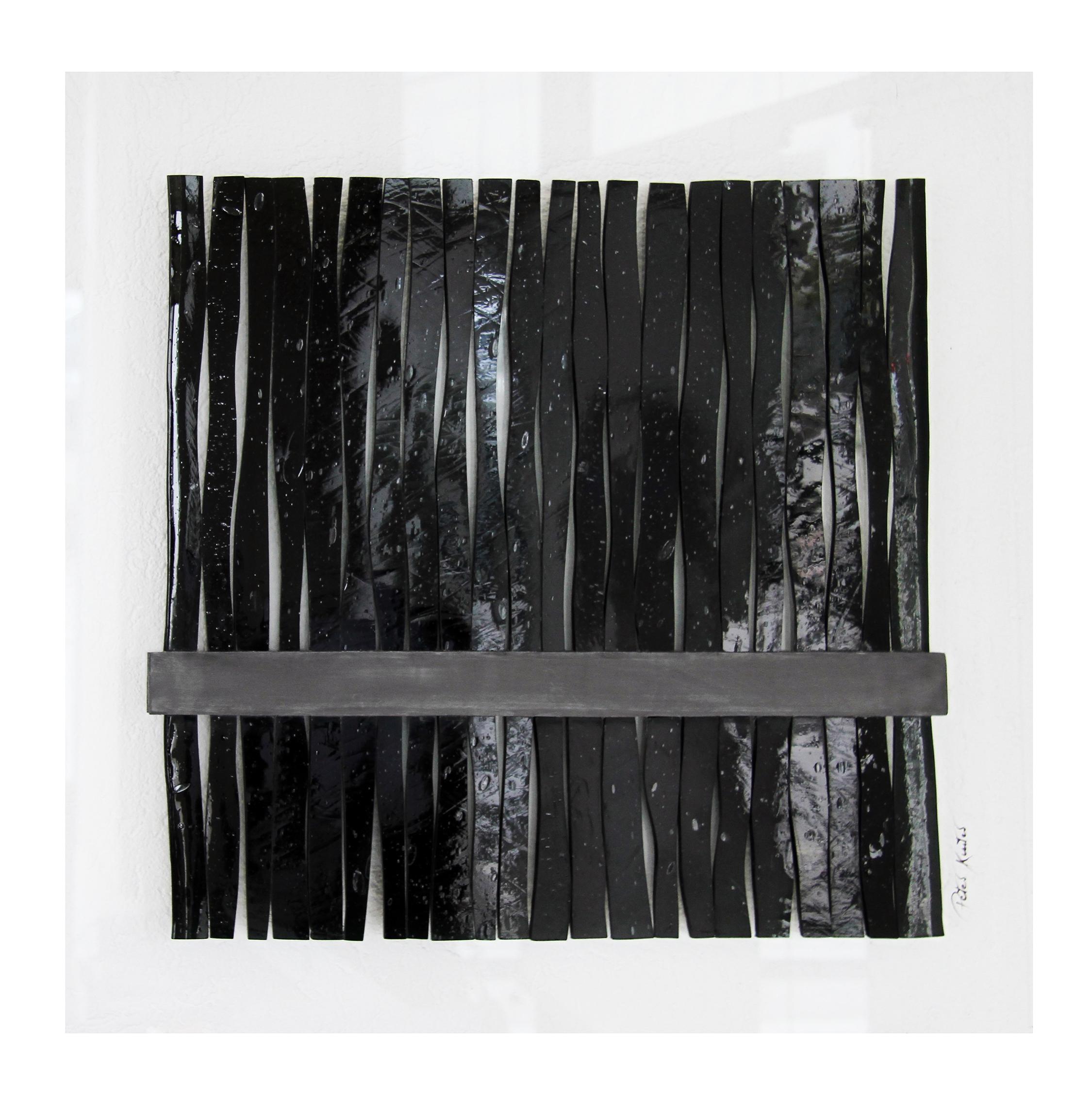 Glascollage - Gebündelt Schwarz – Atelier für Glasmalerei - Peter Kuster