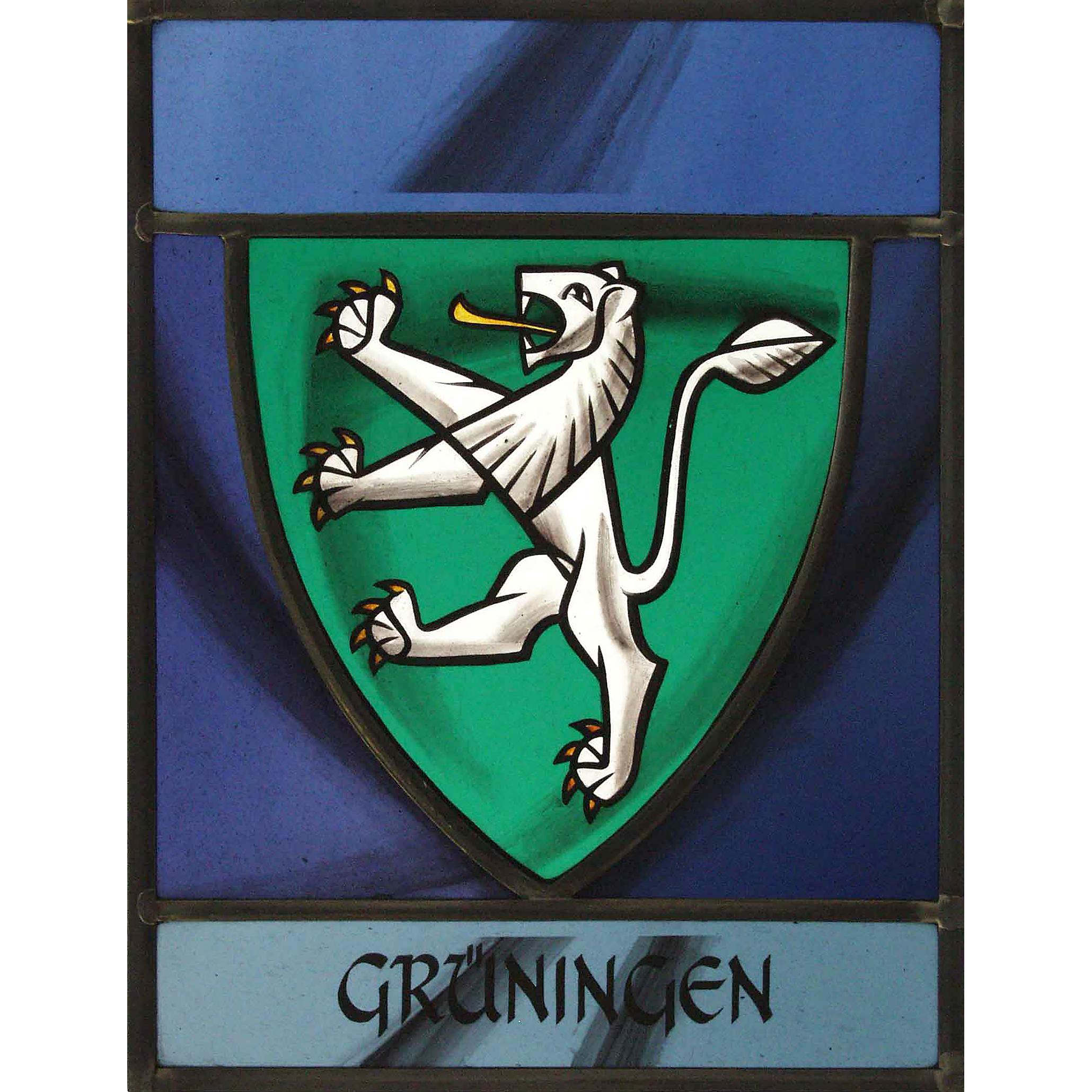 Wappenscheibe Grüningen – Glasmalerei -Bleiverglasung