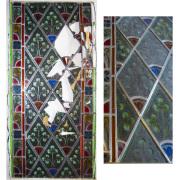 Restauration Fenster mit Bleiverglasung -Glasmalerei