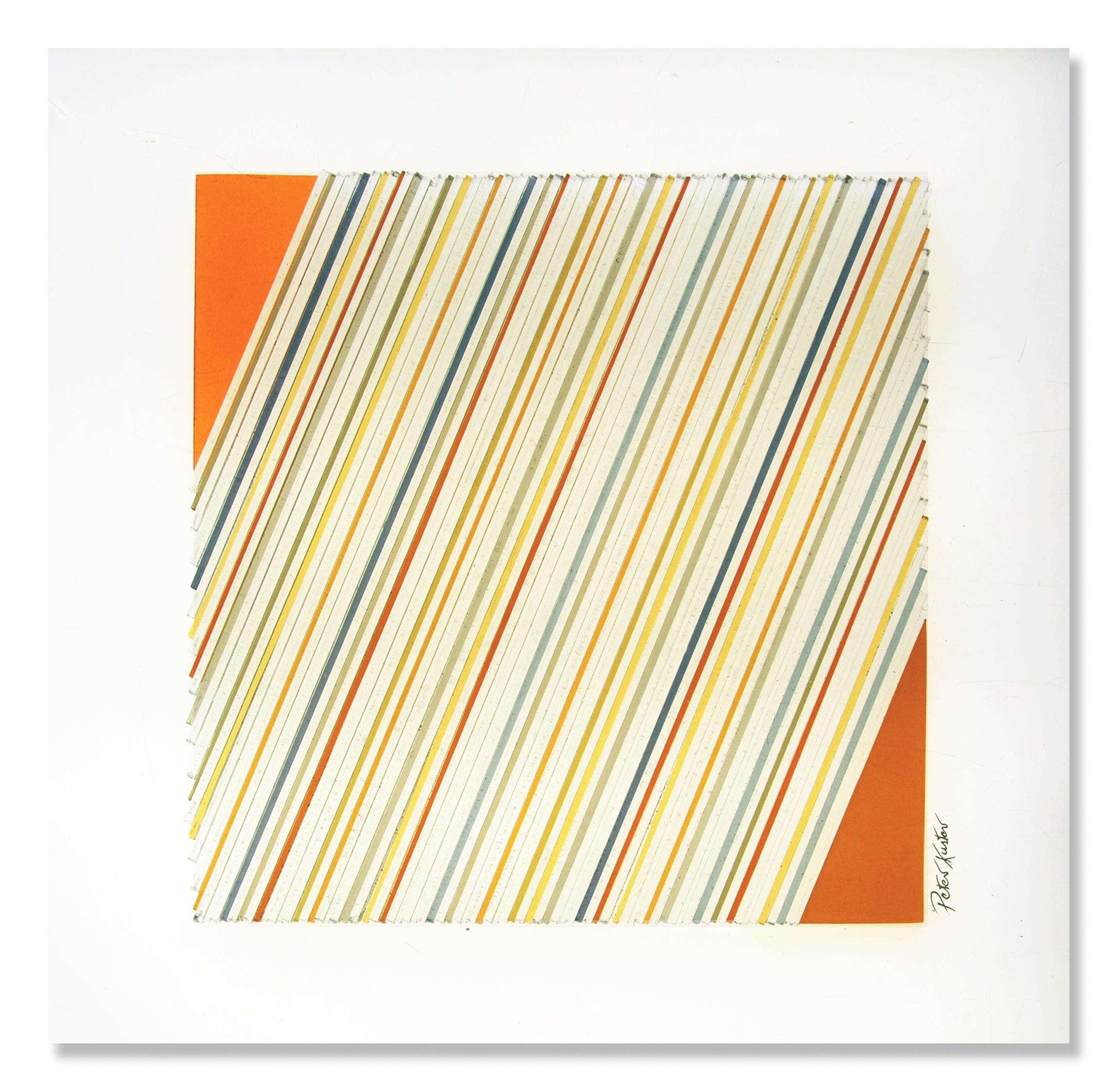 Glascollage - Aufstieg 2 rot – Atelier für Glasmalerei - Peter Kuster
