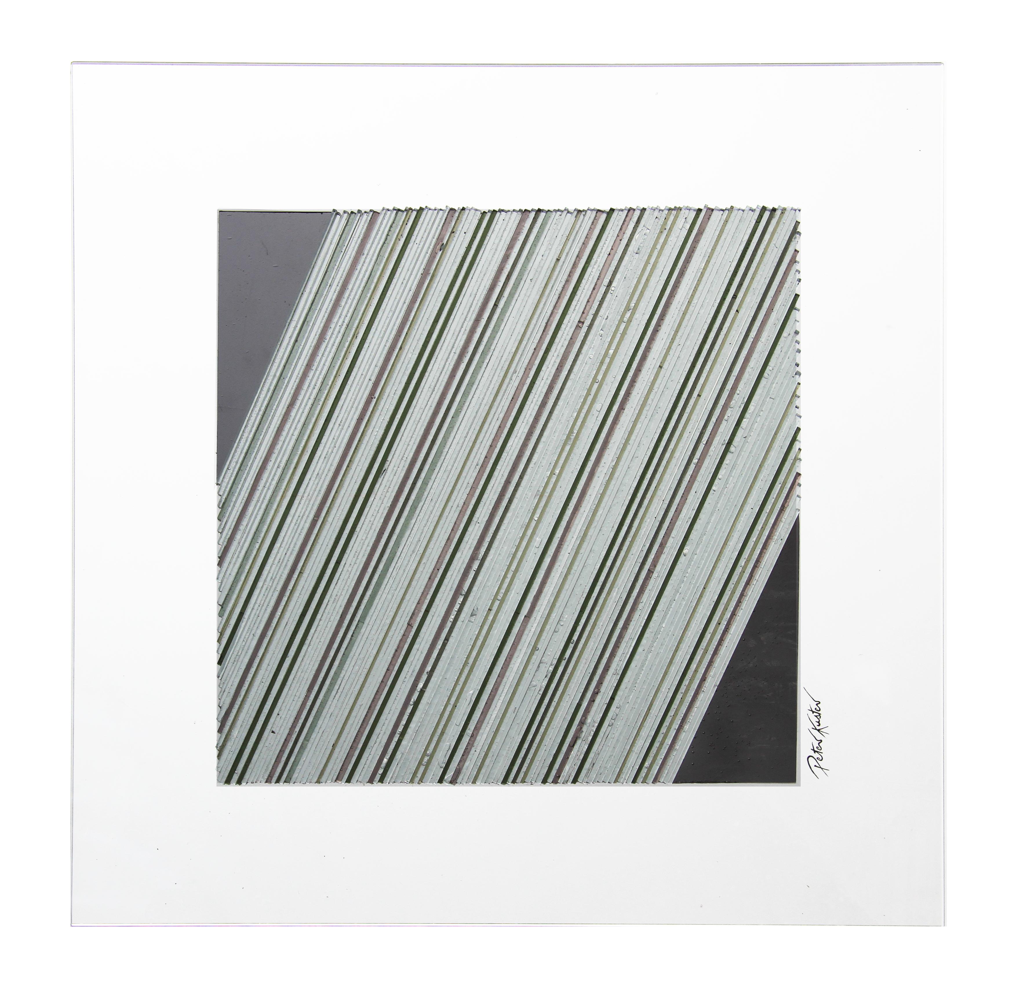 Glascollage - schräg grau– Atelier für Glasmalerei - Peter Kuster