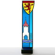 Wappenstele Sempach-Glasmalerei -Glasdesign-Bleiverglasung