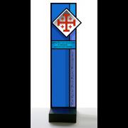 Wappenstele Ritterorden vom Heiligen Grab zu Jerusalem -Glasmalerei -Glasdesign-Bleiverglasung