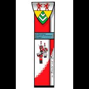 Wappenstele Tambouren- & Pfeiferfest Zeneggen Glasmalerei -Glasdesign-Bleiverglasung