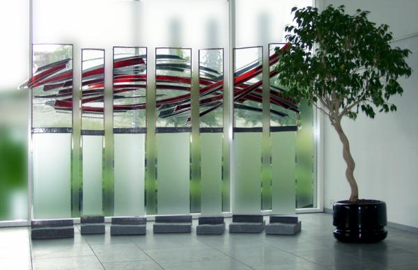Team – 7-teiliges Glaskunst-Objekt – Atelier für Glasmalerei Peter Kuster